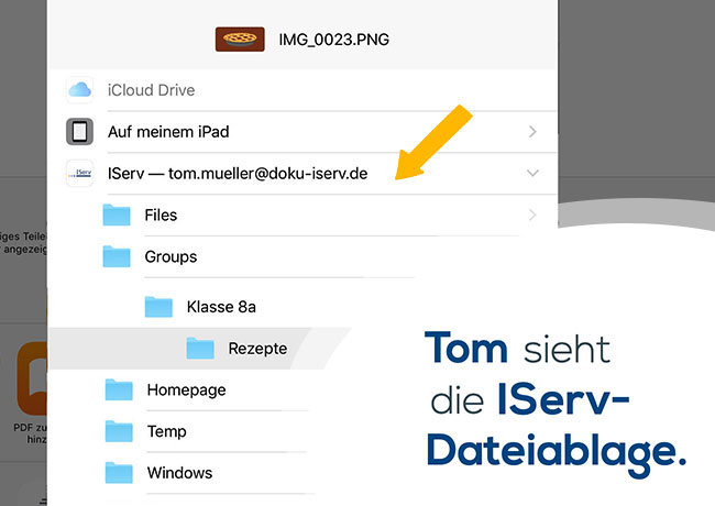 Erklärvideo iOS-Dateiintegration